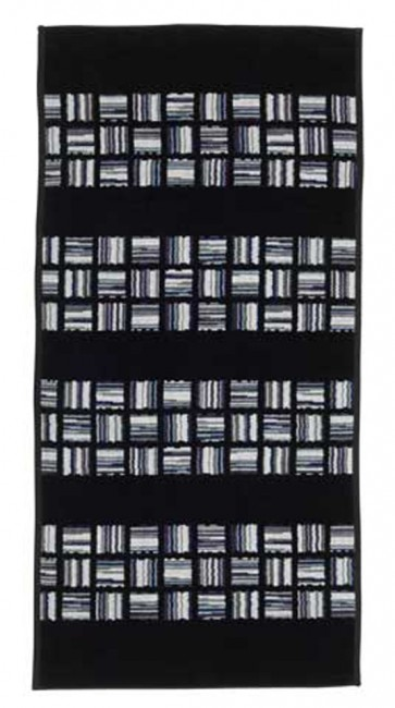 Chicago Chenille Black Head Towel