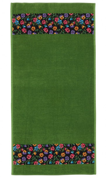 Fatima Petit Green Chenille Head Towel
