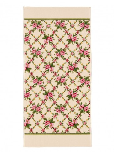 Amelie Chenille Green Hand Towel