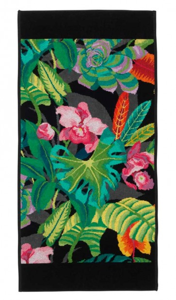 Rainforest Chenille Black Head Towel