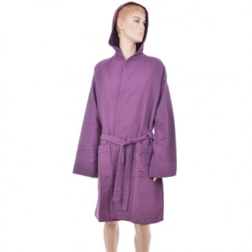 Benetton Honeycomb Purple Bath Robe