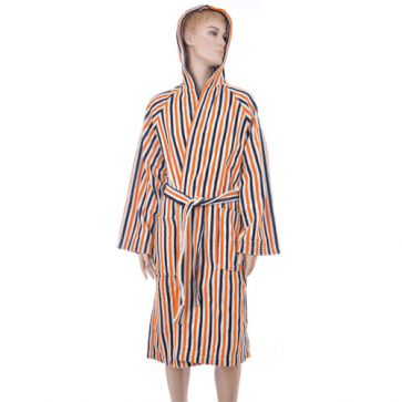 Benetton Stripe Blue Orange Barth Robe
