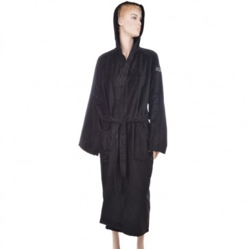 Benetton Black Solid Bath Robe