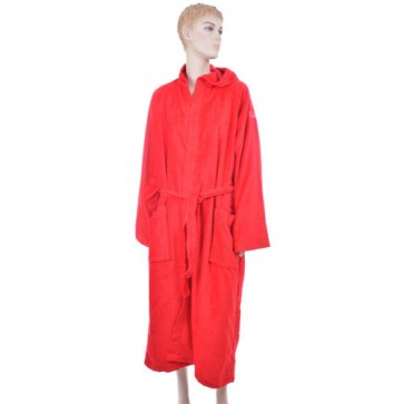 Benetton Red Solid Bath Robe