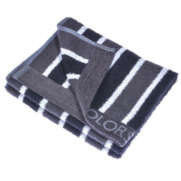 Benetton Grey Black Stripe Towel