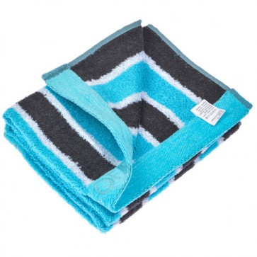 Benetton Blue Black Stripe Towel