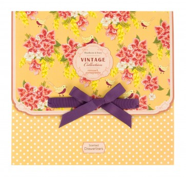 Vintage Mimosa & Pomegranate 5 Beautifully Scented Drawer Liners