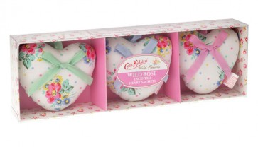 Cath Kidston - Assorted Fragrance 3 Heart Scented Cushions