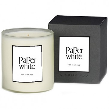 Paper White Soy Candle