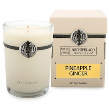 Archipelago Pineapple Ginger Soy Candle 50h