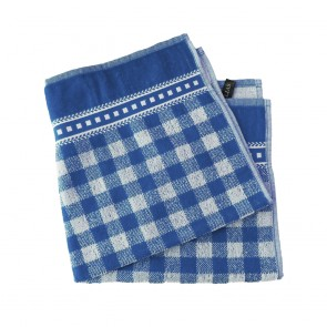 Elias Blue Check Kitchen Towel