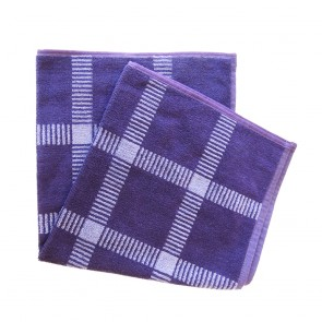 Elias Purple Check Kitchen Towel