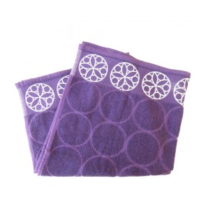 Elias Purple Circle Kitchen Towel