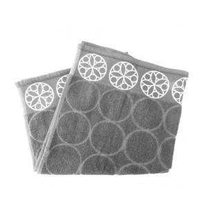 Elias Grey Circle Kitchen Towel