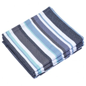 Cookware Grey Blue Stripe Tea Towel