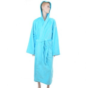 Benetton Blue Solid Bath Robe