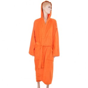 Benetton Orange Solid Bath Robe