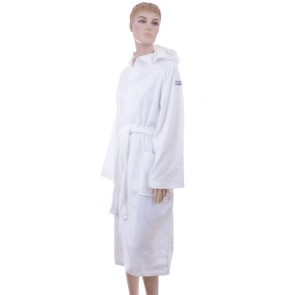 Benetton White Solid Bath Robe